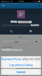 Salesforce1 - Contact Record