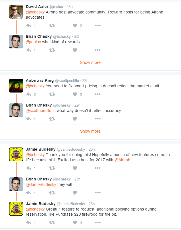 AirBnB CEO Brian Chesky Twitter Feed Conversations.png