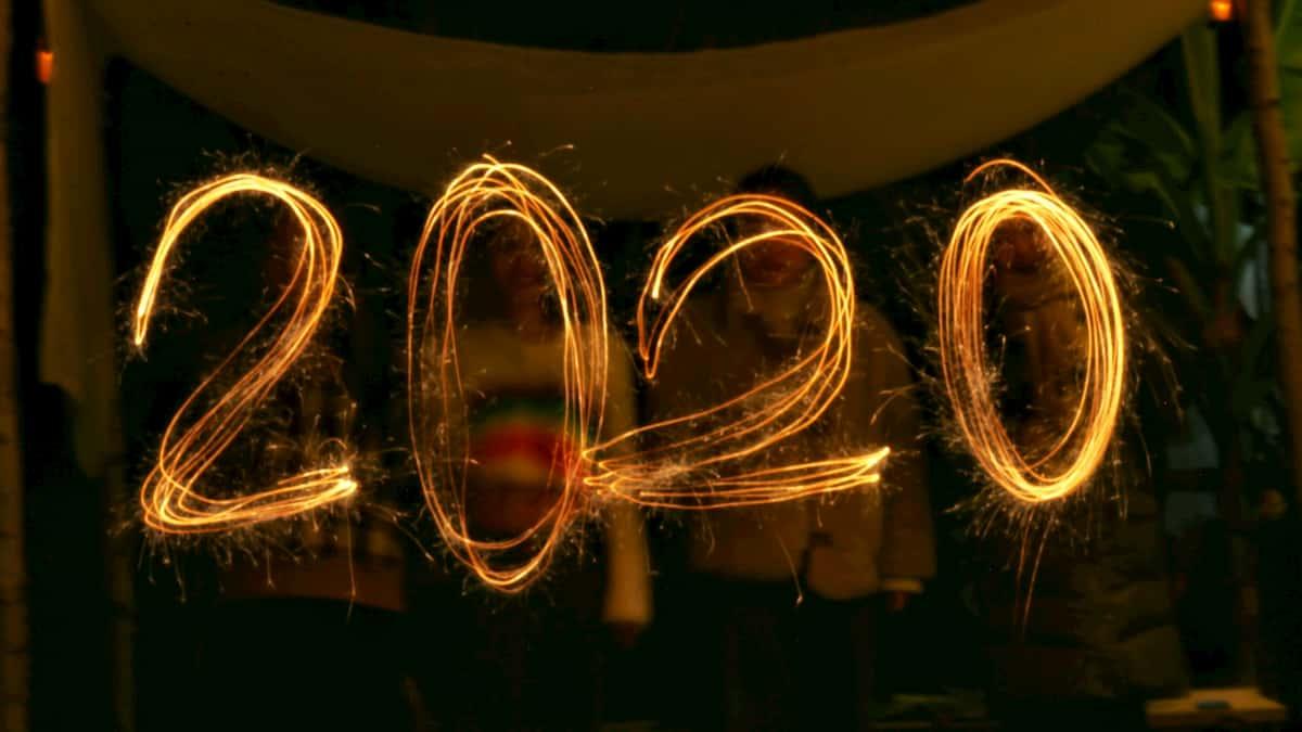 2020 written in lights.