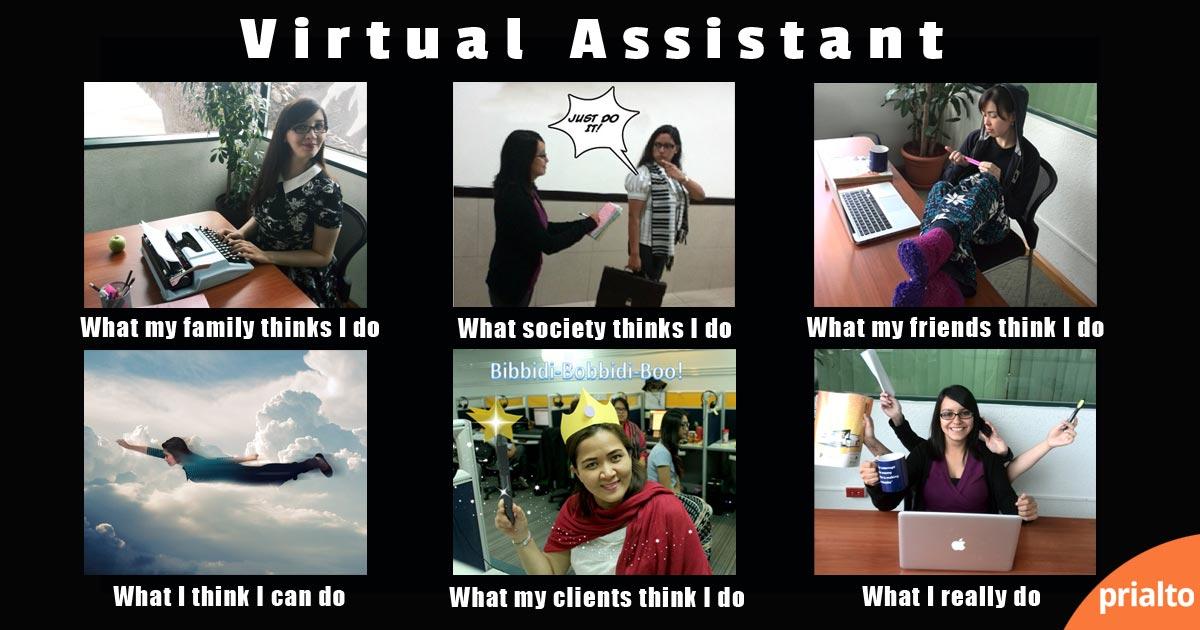 Funny meme about virtual assistants